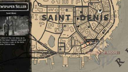Vendedor de periódicos en Saint-Denis-detailed map