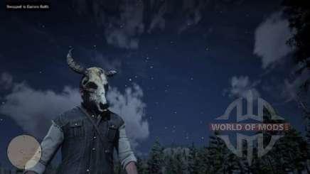 Arthur en la máscara del cráneo