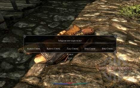 Los cadáveres de limpieza para Skyrim quinta pantalla