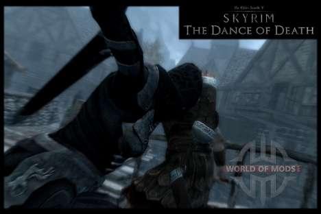 Danza de la muerte v 4.0. Las nuevas animaciones para el cuarto Skyrim pantalla