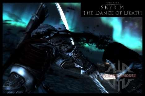 Danza de la muerte v 4.0. Las nuevas animaciones para el tercer Skyrim pantalla