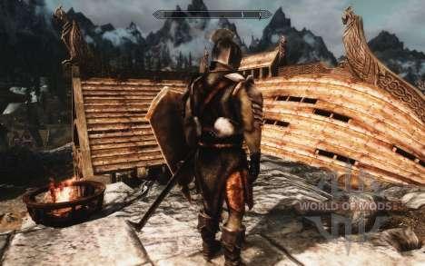 Un conjunto de armadura y las armas de las Uruk- para el cuarto Skyrim pantalla