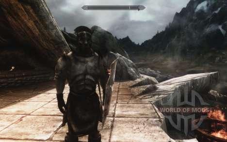 Un conjunto de armadura y las armas de las Uruk- para Skyrim segunda pantalla