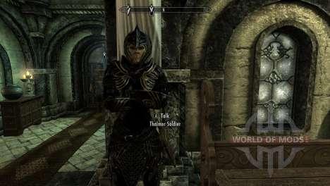 Negro y oro-los elfos de la armadura para el cuarto Skyrim pantalla
