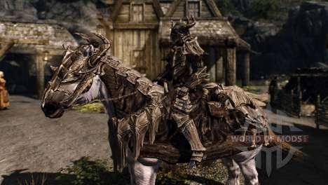 Armadura para caballos para el cuarto Skyrim pantalla