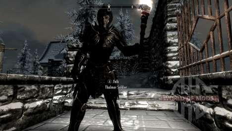 Negro y oro-los elfos de la armadura para Skyrim segunda pantalla