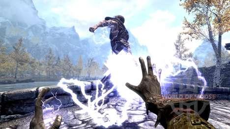 El emperador relámpago para Skyrim segunda pantalla