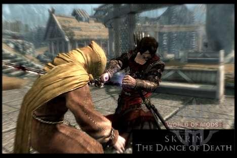 Danza de la muerte v 4.0. Las nuevas animaciones para Skyrim novena de pantalla