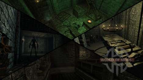 Mansión siniestra para el cuarto Skyrim pantalla