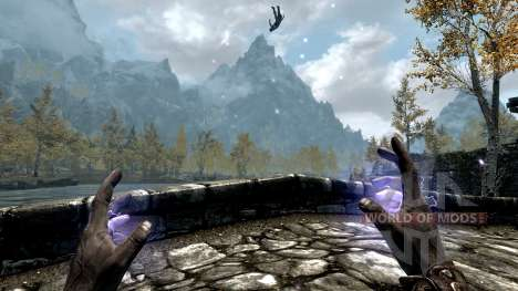 El emperador relámpago para el tercer Skyrim pantalla