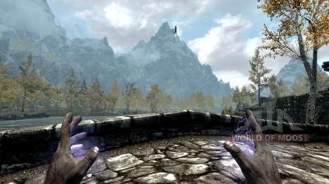 El emperador relámpago para el cuarto Skyrim pantalla