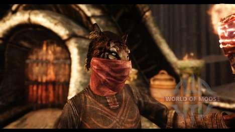 Máscaras faciales para Skyrim segunda pantalla