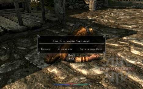 Los cadáveres de limpieza para Skyrim octavo de pantalla