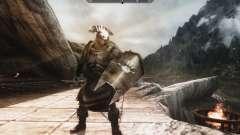 Un conjunto de armadura y las armas de las Uruk-