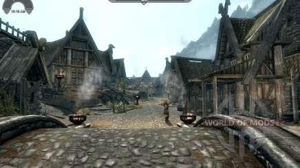 HUD Clock Widget para Skyrim