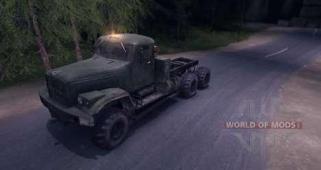 Camión KrAZ para Spin Tires