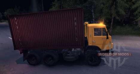 KAMAZ 55102 contenedor v2.0 para Spin Tires