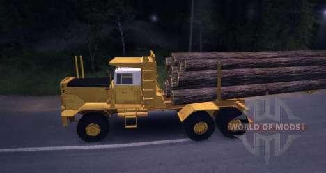 Carro de madera Hayes HQ 142 (HDX) con semi-remo para Spin Tires