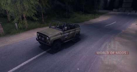 UAZ-469 v1.0 para Spin Tires