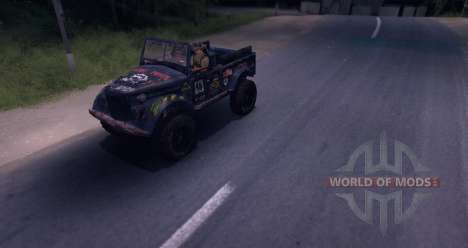 Gaz-69 of Road Edition para Spin Tires