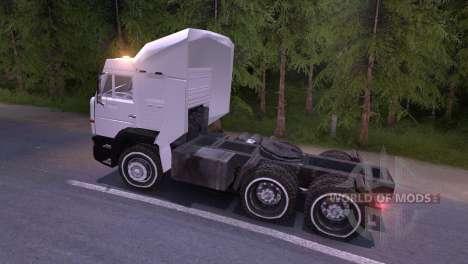 KAMAZ-6460 blanco para Spin Tires