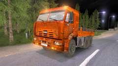 KAMAZ-65117 fangoso-naranja para Spin Tires