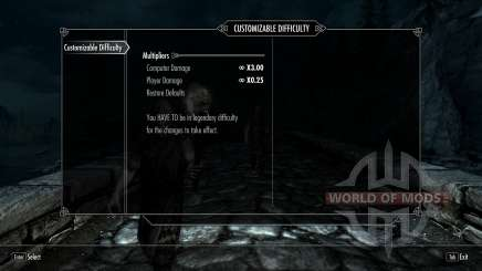 Customizable Difficulty para Skyrim