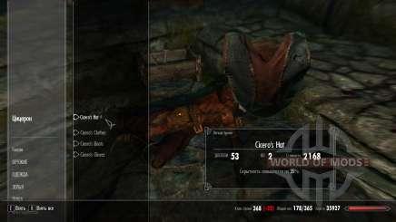 Ropa de protección Cicerón para Skyrim