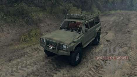Nissan Patrol Y60 v2.0 para Spin Tires