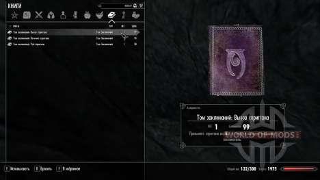 La magia de spriggan para el tercer Skyrim pantalla
