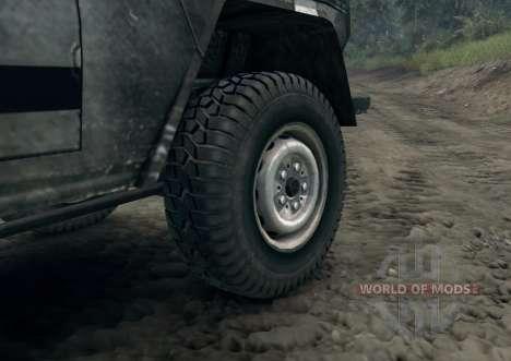 Mercedes-Benz 250GD Wolf para Spin Tires