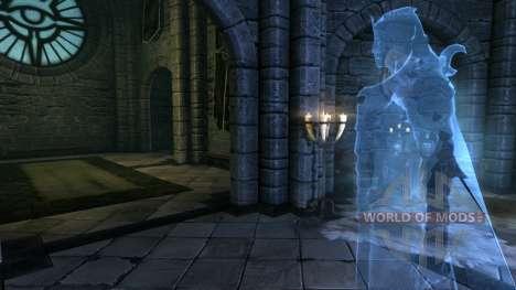 El personal de sacerdote para el cuarto Skyrim pantalla