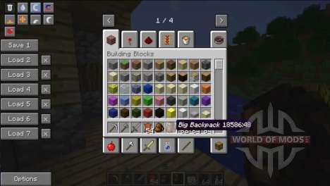 Amplias mochilas para Minecraft