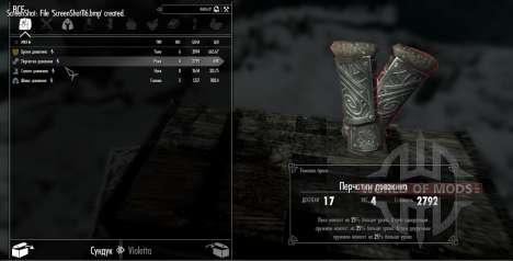 El conjunto de armadura de duvakina para Skyrim quinta pantalla