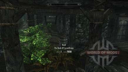 Obtener beneficios licantropía sin habilidad para Skyrim