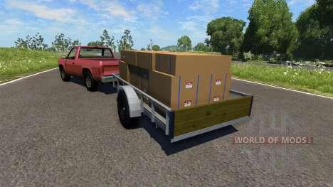 Camioneta con remolque para BeamNG Drive