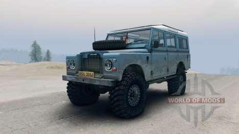 Land Rover Defender Blue para Spin Tires