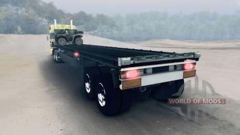 Semirremolque con ATV y los barriles para Spin Tires