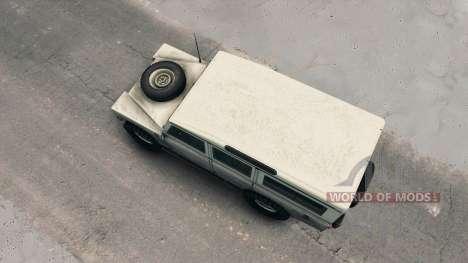 Land Rover Defender Cream para Spin Tires