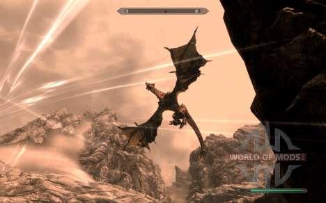 Las armas y armaduras de dragón Caballero de dot para el cuarto Skyrim pantalla