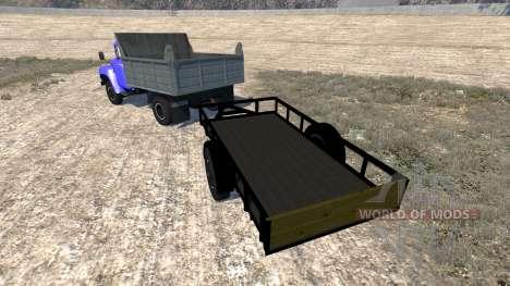 ZIL-130-trailer para BeamNG Drive