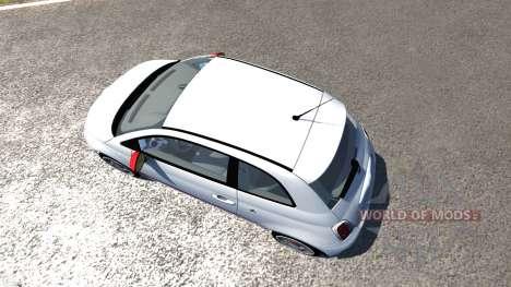 Fiat 500 Abarth White para BeamNG Drive