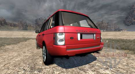 Range Rover Supercharged 2008 [Red] para BeamNG Drive