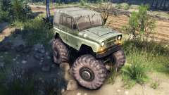 УАЗ-469 Monster Truck v2 para Spin Tires