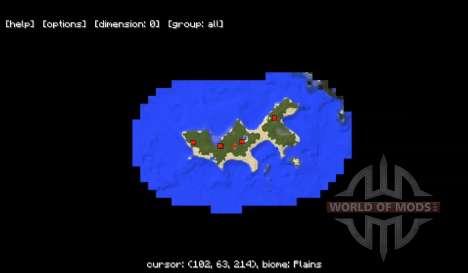 Mini mapa para Minecraft