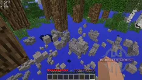 Trampa en transparente bloques para Minecraft
