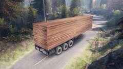 De madera de remolque para Spin Tires