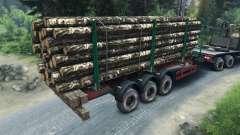 Remolque de madera para Spin Tires