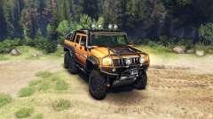 Hummer H2 SUT 6x6 para Spin Tires