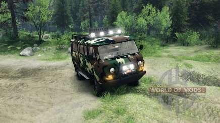 UAZ-3909 off-road v2.0 para Spin Tires